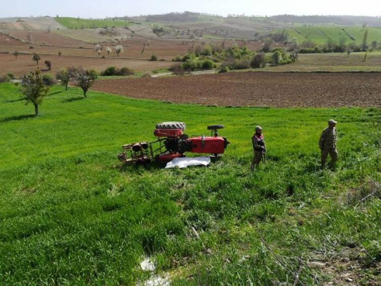 Doyran'da Traktör Kazası
